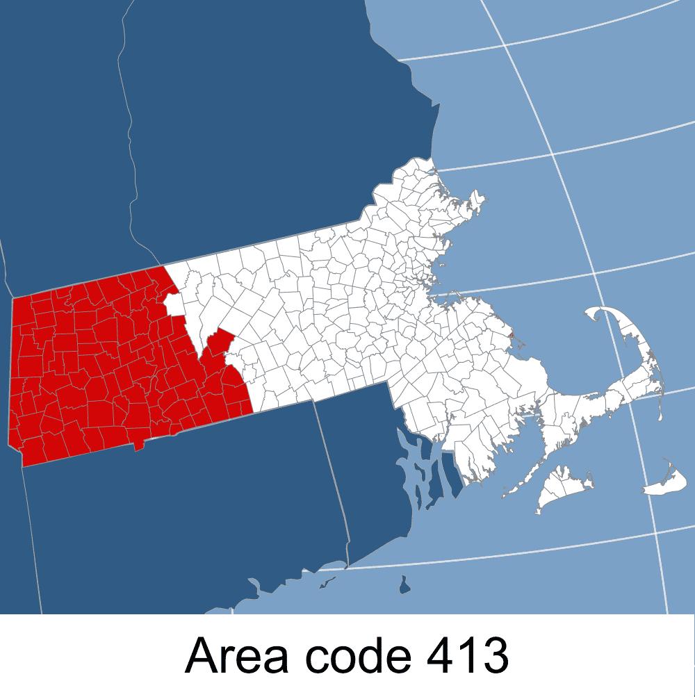 MA, Area code 413