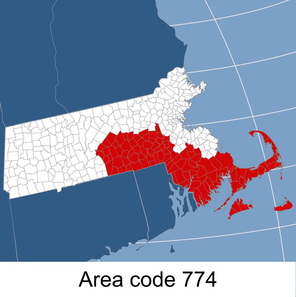 MA, Area code 774