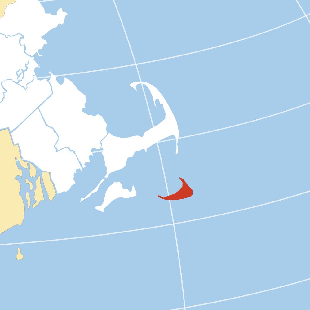 Nantucket County map